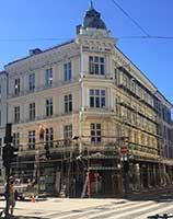Fasadearbeider og fasadeoppussing Karl Johans gate 6, Oslo sentrum