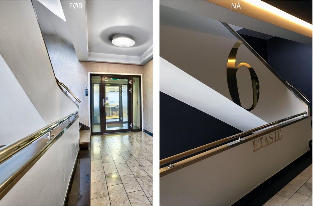 Oppgradering av trappeløp Rådhusgata 23