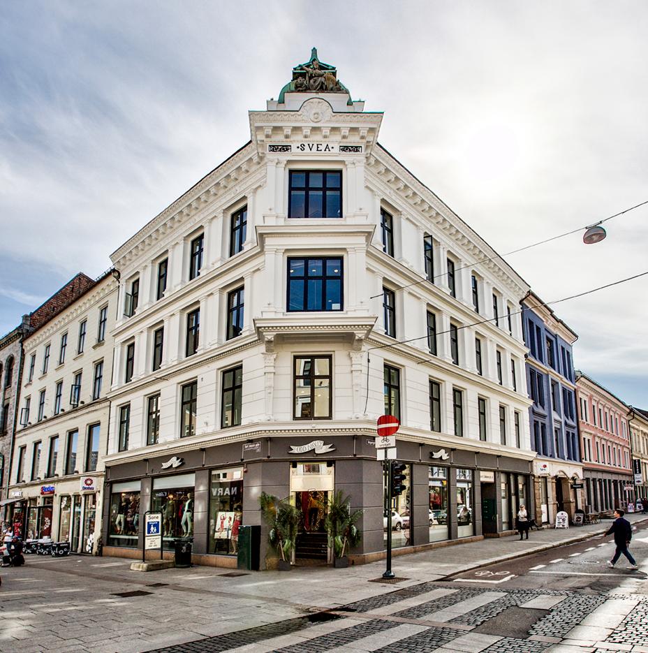 Karl Johans gate 6, Oslo, fasade etter oppussing Eiendomsspar