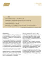 1. halvårsrapport 2018 for Victoria Eiendom