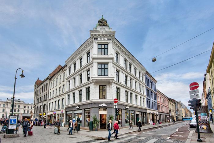 Karl Johans gate 6 Oslo inngangsparti Eiendomsspar