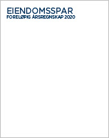 Foreløpig årsregnskap 2020 Eiendomsspar